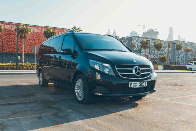 Mercedes V Class (Black), 2018 for rent in Dubai