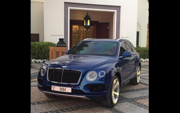 Bentley Bentayga (Blue), 2019 for rent in Dubai