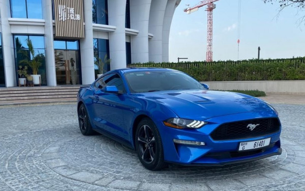Ford Mustang (Blue), 2019 for rent in Dubai