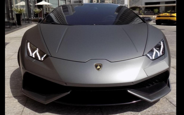 Lamborghini Huracan Coupe (Dark Grey), 2017 for rent in Dubai
