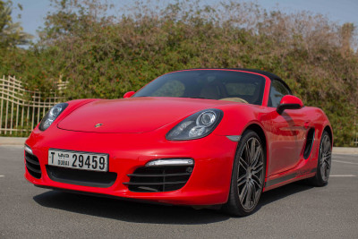 Porsche Boxster 981 (Red), 2016 for rent in Dubai