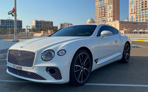 Bentley Continental GT (White), 2019 for rent in Dubai