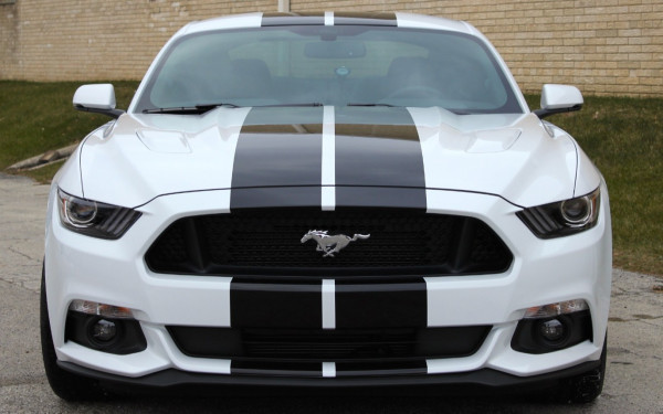 Ford Mustang Coupe (White), 2018 for rent in Dubai