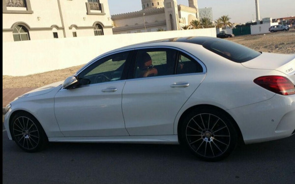 Mercedes C Class (White), 2016 for rent in Dubai