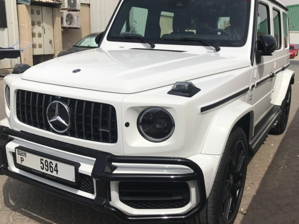 Mercedes G63 AMG (White), 2019 for rent in Dubai