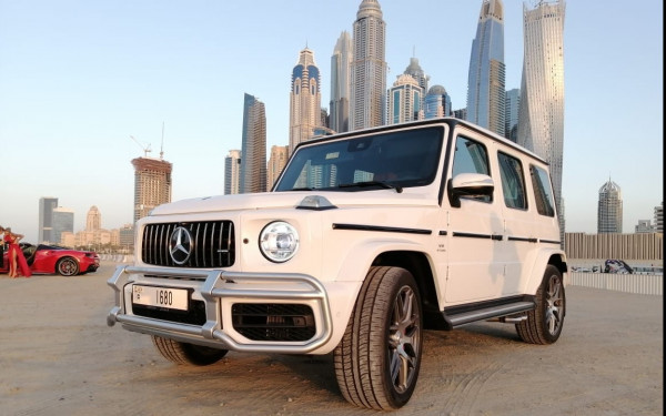 Mercedes G63 AMG EDITION 1 (White), 2020 for rent in Dubai