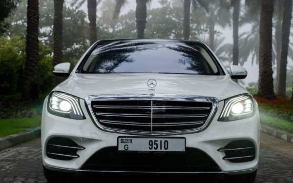 Mercedes S Class (White), 2020 for rent in Dubai