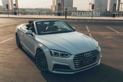 hire Audi A5 Cabriolet (White), 2018 in Dubai