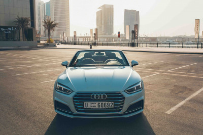 rental Audi A5 Cabriolet (White), 2018 in Dubai