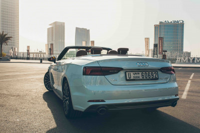 Audi A5 Cabriolet (White), 2018 for rent in Dubai price