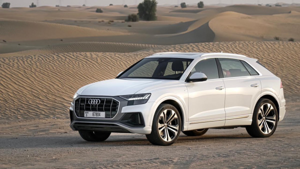 rental Audi Q8 (Black), 2020 in Dubai