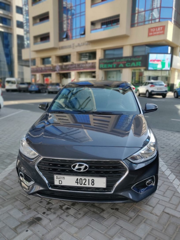 rental Hyundai Accent (Black), 2020 in Dubai