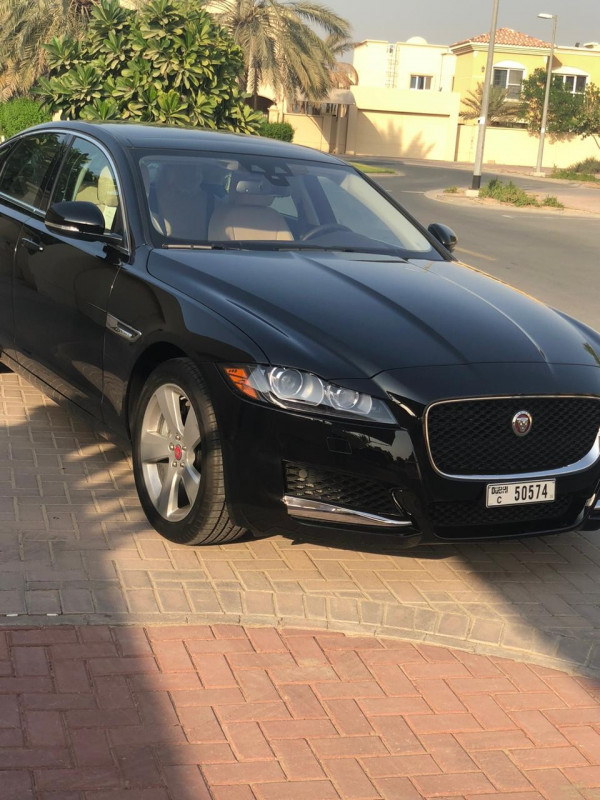hire Jaguar XF (Black), 2019 in Dubai price
