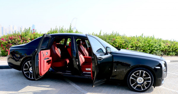 hire Rolls Royce Ghost (Black), 2017 in Dubai
