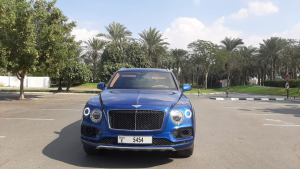 rental Bentley Bentayga (Blue), 2019 in Dubai