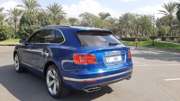 Bentley Bentayga (Blue), 2019 for rent in Dubai price