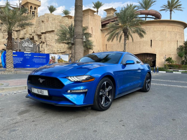 hire Ford Mustang (Blue), 2019 in Dubai price