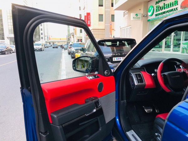 Range Rover Sport SVR (Blue), 2019 for rent in Dubai