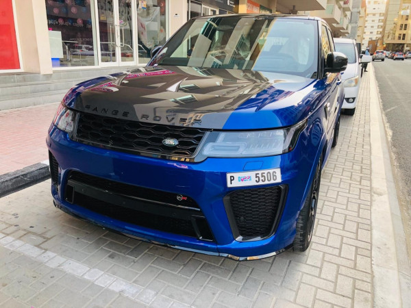 Range Rover Sport SVR (Blue), 2019 for rent in Dubai price