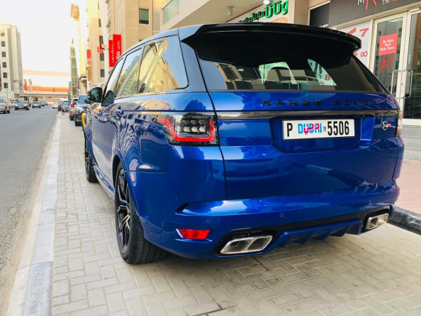 hire Range Rover Sport SVR (Blue), 2019 in Dubai price
