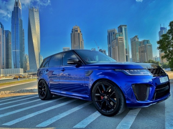 Range Rover Sport SVR (Blue), 2020 for rent in Dubai