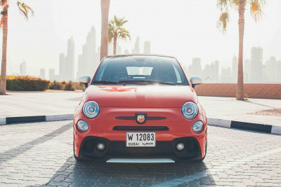 hire Fiat Abarth 595 (Red), 2019 in Dubai