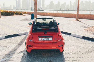 hire Fiat Abarth 595 (Red), 2019 in Dubai price