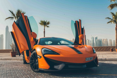 hire McLaren 570S (Orange), 2016 in Dubai