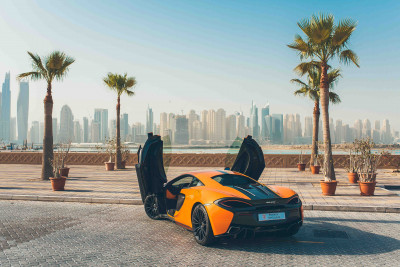 hire McLaren 570S (Orange), 2016 in Dubai price
