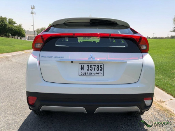 rental Mitsubishi Eclipse (Pearl White), 2018 in Dubai