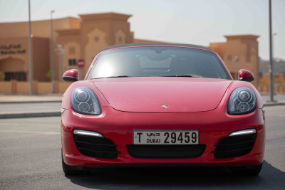 Porsche Boxster 981 (Red), 2016 for rent in Dubai price