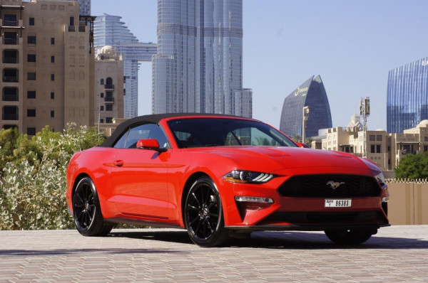 hire Ford Mustang (Red), 2019 in Dubai