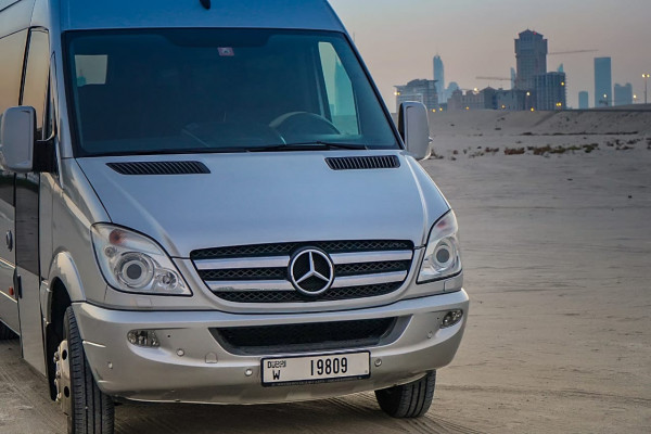 Mercedes Sprinter (Silver), 2016 for rent in Dubai