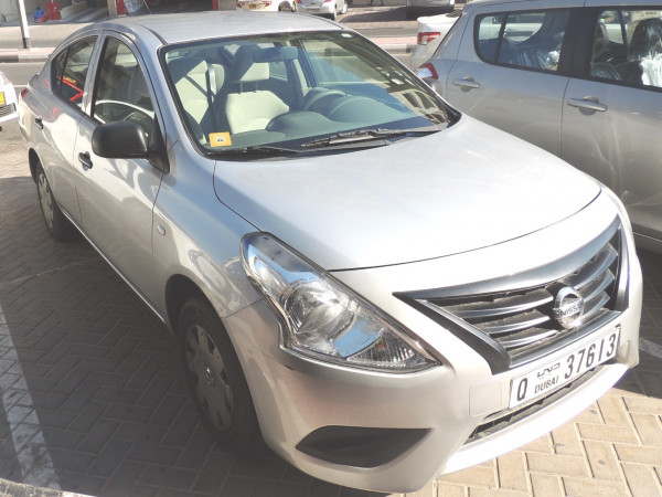 Nissan Sunny (Silver), 2015 for rent in Dubai