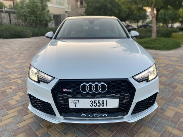 Audi A4 with RS4 bodykit (White), 2019 for rent in Dubai