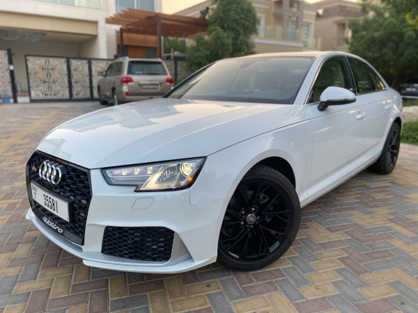 rental Audi A4 with RS4 bodykit (White), 2019 in Dubai