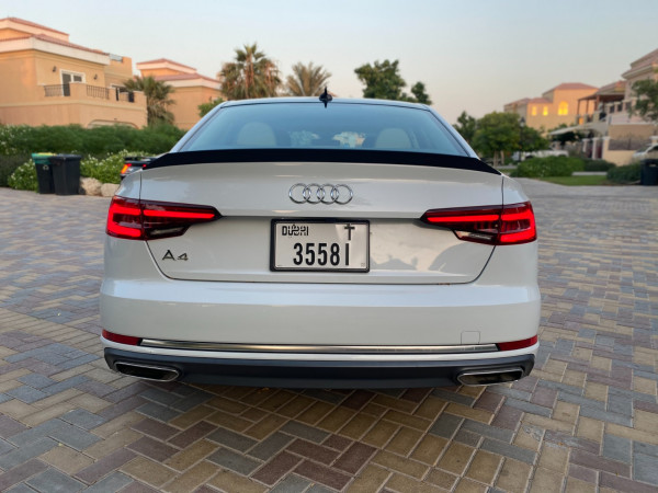 hire Audi A4 with RS4 bodykit (White), 2019 in Dubai price