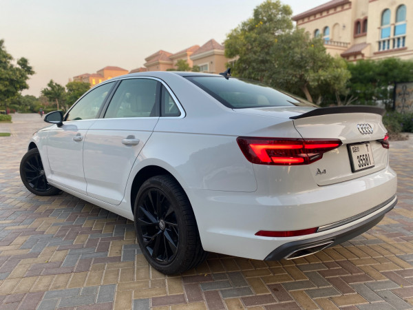 Audi A4 with RS4 bodykit (White), 2019 for rent in Dubai reviews