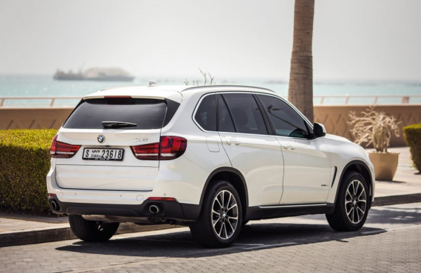 BMW X5 (White), 2015 for rent in Dubai