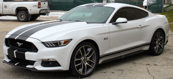 Ford Mustang Coupe (White), 2018 for rent in Dubai price