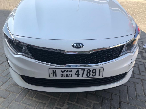 rental KIA Optima (White), 2018 in Dubai