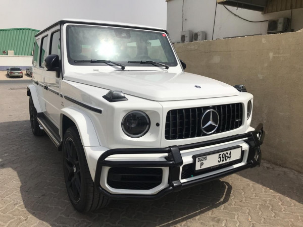 hire Mercedes G63 AMG (White), 2019 in Dubai
