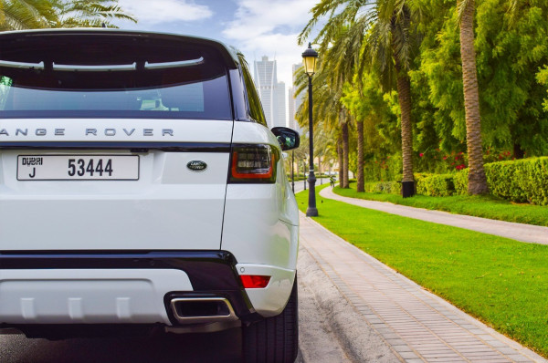 hire Range Rover Sport Supercharged (White), 2019 in Dubai