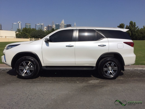 Toyota Fortuner (White), 2017 for rent in Dubai