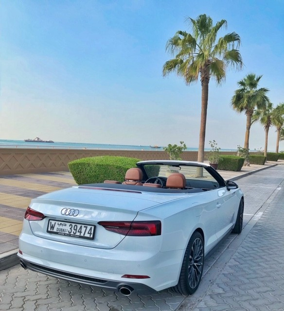 Audi A5 Cabriolet (White), 2018 for rent in Dubai