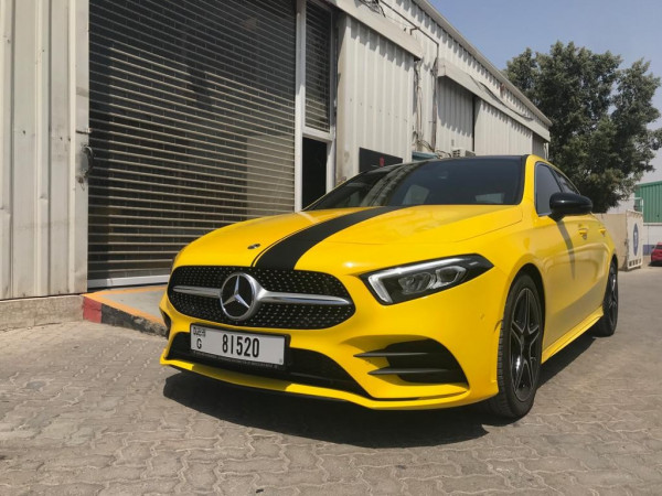 Mercedes A250 (Yellow), 2019 for rent in Dubai